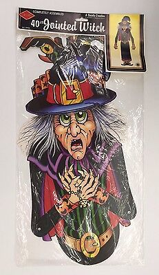 Vintage Beistle 40in Jointed Witch Halloween Decorations 01930 NOS 1988 - Beistle Vintage Halloween Decorations