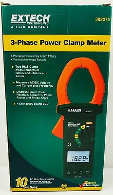 Extech 382075 Clamp Meter Power 3-phase Analyzer