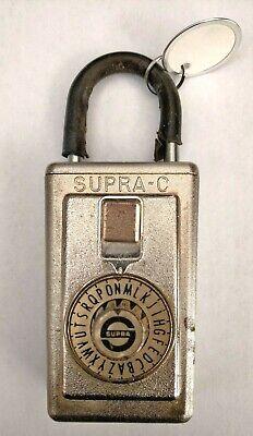Vintage Supra C Series 3 Dial Combination Key Lock Box - Cosmetic Wear - Works