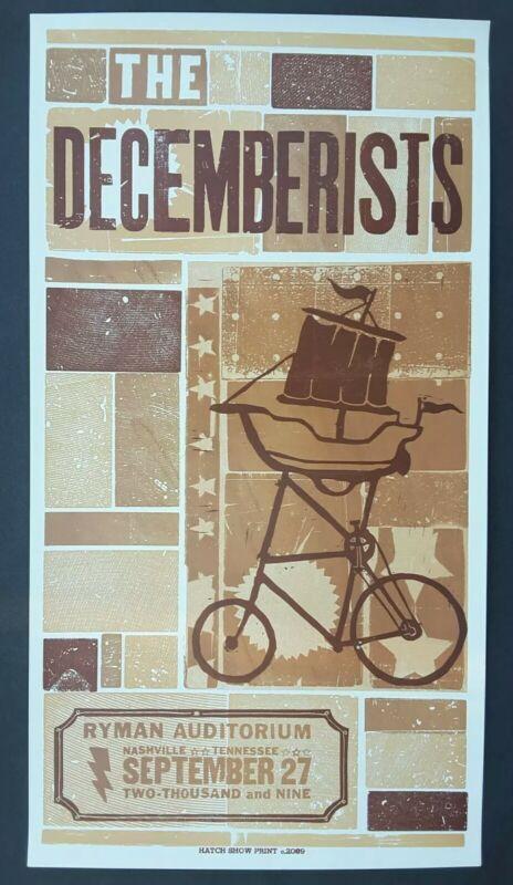 THE DECEMBERISTS Hatch Show Print RYMAN Nashville 2009 Concert Tour Poster