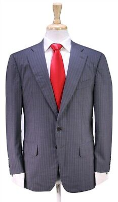 ISAIA Napoli Current Model Gray Striped 2-Btn Dynamic Comfort Luxury Suit 38S