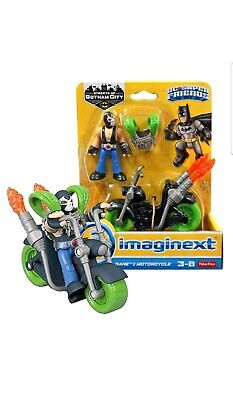 Imaginext Batman Streets Of Gotham City Bane & Motorcycle DC Super Friends New