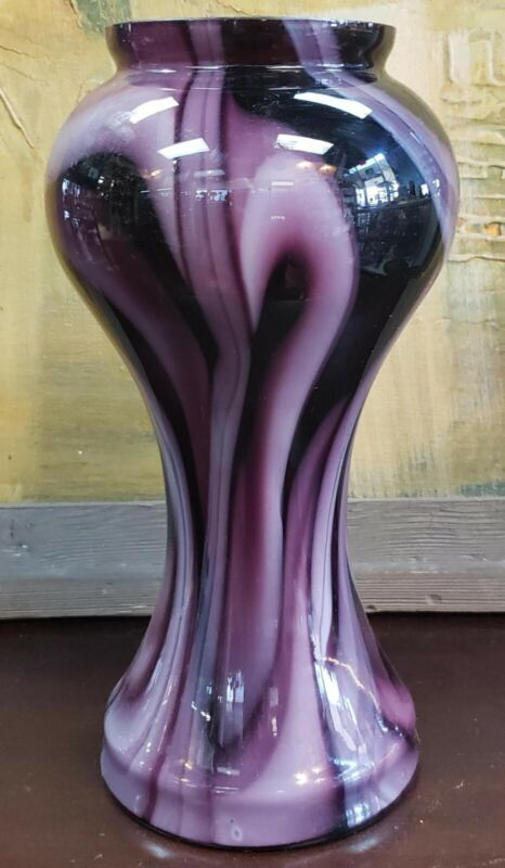 Circa 1880 American Agate Glass Vase Attributed to Joseph Locke