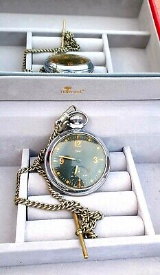 FABULOUS REBUILD MILITARY SMITHS EMPIRE POCKET WATCH VERY UNUSUAL dial mint