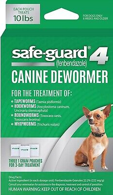 Safe Guard 4 Canine Dewormer 3 day treatment Package up to