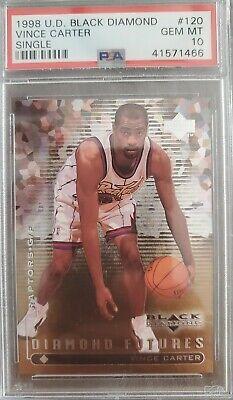 1998 U.D Black Diamond #120. Vince Carter. Rookie. RC. PSA