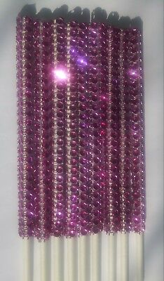12 Pink Bling Cake Pop Sticks Lollipop Sticks 6