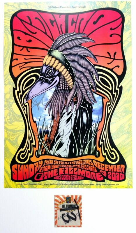 The Black Crowes SF Fillmore poster. Signed by Rich Robinson W/Fillmore Pass
