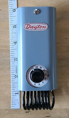 New Dayton 2e206 Thermostat Line Voltage 30-100f