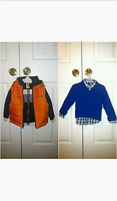 Nautica 2T 2-Piece Top Sets, Hoodie+Down Hooded Vest & Shawl Sweater+Button Down