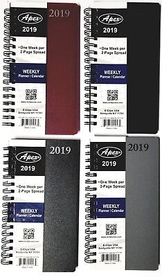 2019 Weeklymonthly Pocket Planner Spiral Bound 6-18 In X 3-14 In Colors Vary