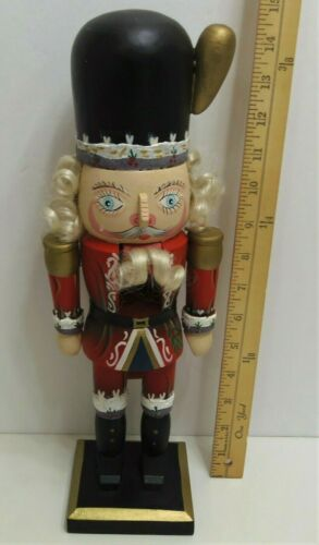 "Soldier Nutcracker 15"" Tall Large Wood With Hair"