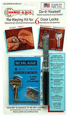 SCHLAGE, BALDWIN, EMTEK &  PEGASUS (5-pin ) Rekey Kit  ()
