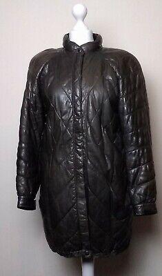 Ivan grundahl Leather 80s High Collared Coat Size 12