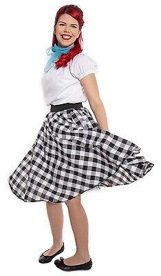 ite Check Circle Skirt w Crinoline - Swing, Dance, Sock Hop (Sock Hop Röcke)