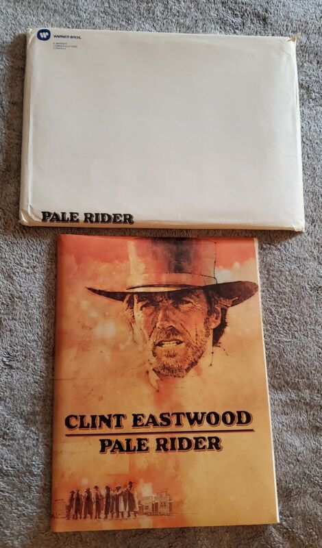 """1985 """"PALE RIDER"""" Clint Eastwood Studio PRESS KIT In MAILER With (14) Photos"""