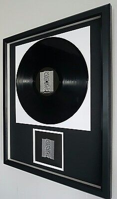 Joy Division Framed Original VINYL Unknown Pleasures Ltd Edition-Certificate