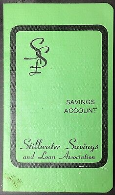 Vintage Savings Account Book Stillwater OK Savings & Loan 1983 1984