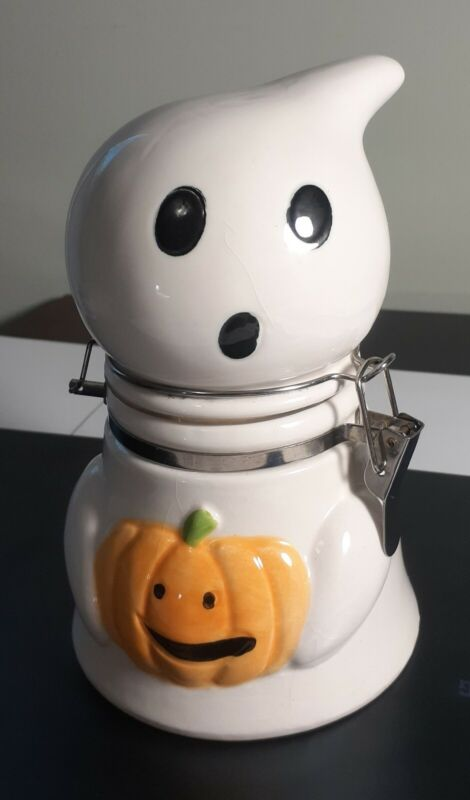 Boston Warehouse Happy Hauntings Ghost Snack/ Treat Jar Cannister