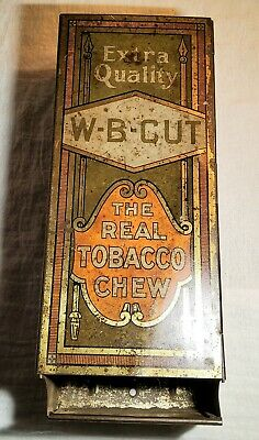 ANTIQUE EXTRA QUALITY W-B-CUT THE REAL TOBACCO CHEW PAINTED STEEL DISPENSER RACK