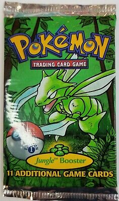 Pokemon 1st Edition Jungle Booster Pack Sealed 1999 Scyther Art Unweighed
