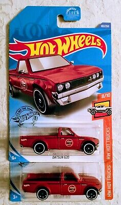 Hot Wheels Datsun 620 Pickup Truck (Red) HW Hot Trucks 2020 K Case #182 Lot of 2