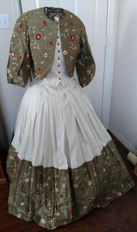Costumes, Reenactment, Theater - Civil War 1860s Victorian Dress