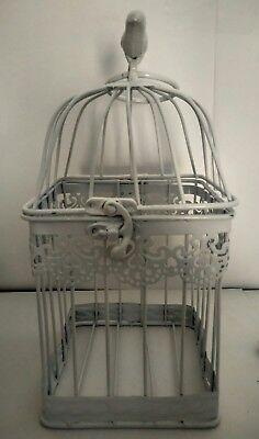 Jaula pájaro metal decoración look vintage boda comunion celebracion