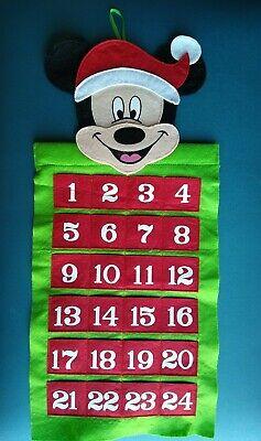 Disney Mickey Mouse Felt Advent Calendar Christmas Countdown to 12/24