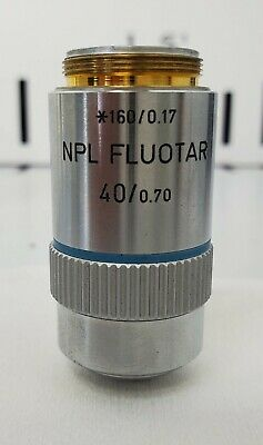 Leitz Microscope Objective 40x.70 Npl Fluotar 1600.17 - Free Shipping