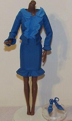 Chic City Suit Silkstone Barbie Fashion Outfit Blue Dress Suit Ensemble No Doll