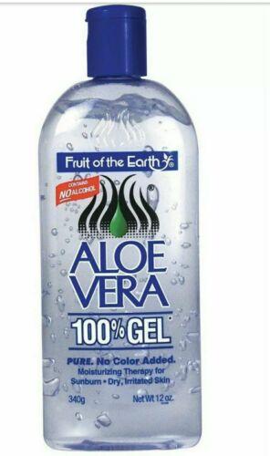 1 Bottle Fruit Of The Earth Aloe Vera 100% Gel 12 oz  FAST S