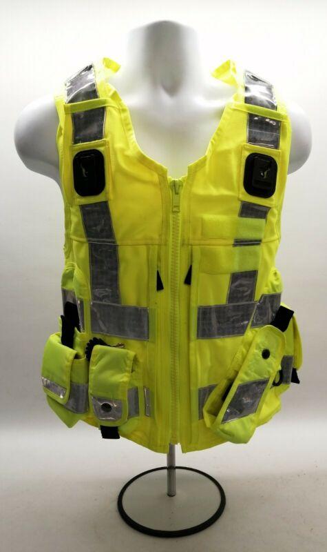 Genuine Ex Police Hi Vis Tactical Utility Vest Yaffy Uniform Safety Fancy Dress