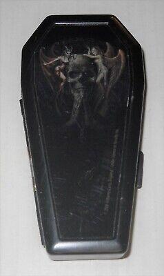 Gothic Photo Black Metal Coffin Cigarette Case/Stash Box, Angel/Demon, NEW ()