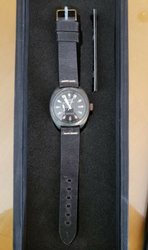 NIB Out of Order (OOO) Damaged in Italy Torpedine Automatic black watch $700+