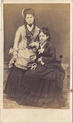 Deux Mujeres Second Empire Moda París Francia Foto Cdv Vintage albúmina c1860, usado segunda mano  Embacar hacia Spain