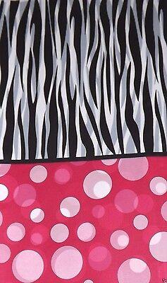 Zebra Stripe Polka Dot Table Cover, Birthday Bachelorette Party, Baby Shower - Zebra Table Cover