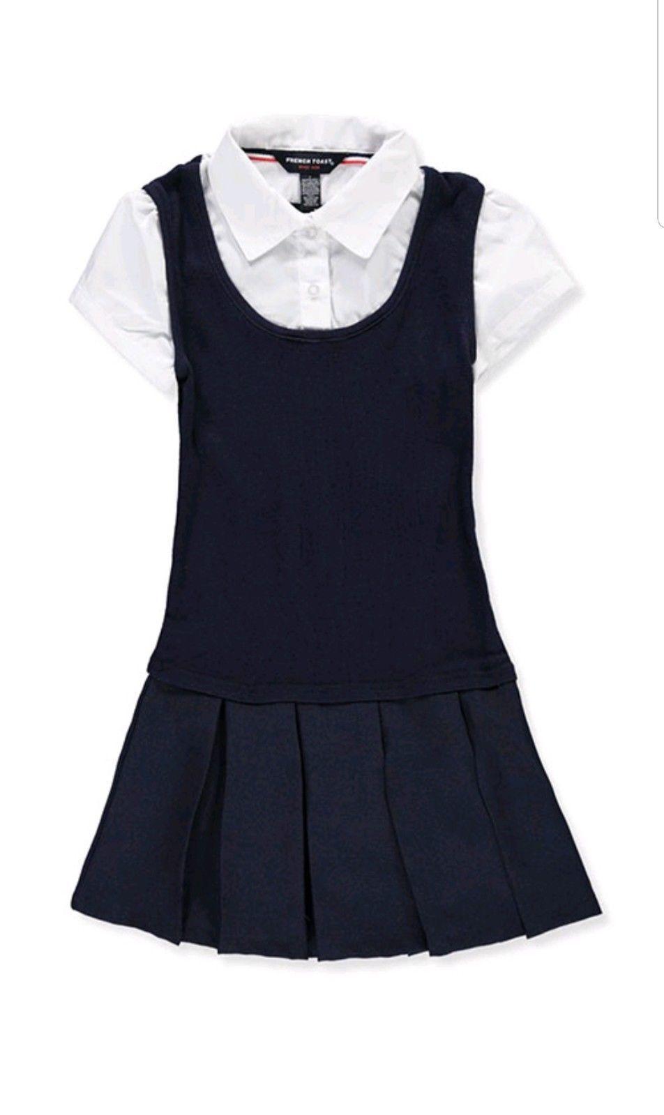 girls gabrielle jumper twofer uniform navy blue
