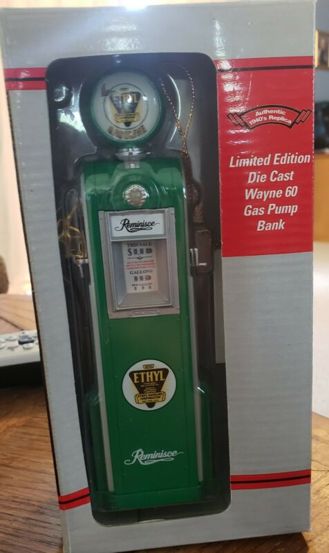 Crown Premiums Reminisee Limited Edition Gas Pump Coin Bank Die Cast