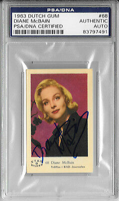 Days Of Our Lives Diane Mcbain Signed Autograph And Headshot Photo Set