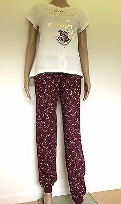 HARRY POTTER PRIMARK T-Shirt CHIBI Style HOGWARTS Womens Ladies UK Sizes 4-16