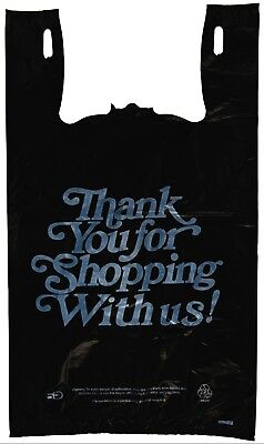 Plastic Bag-black T-shirt Bags- Heavy Duty Oversized Thank You Bag 21 Microns