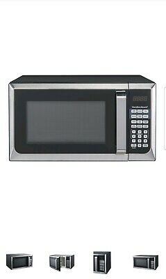 Hamilton Beach 0.9 Cu. Ft. Stainless Steel Microwave Oven Compact Countertop