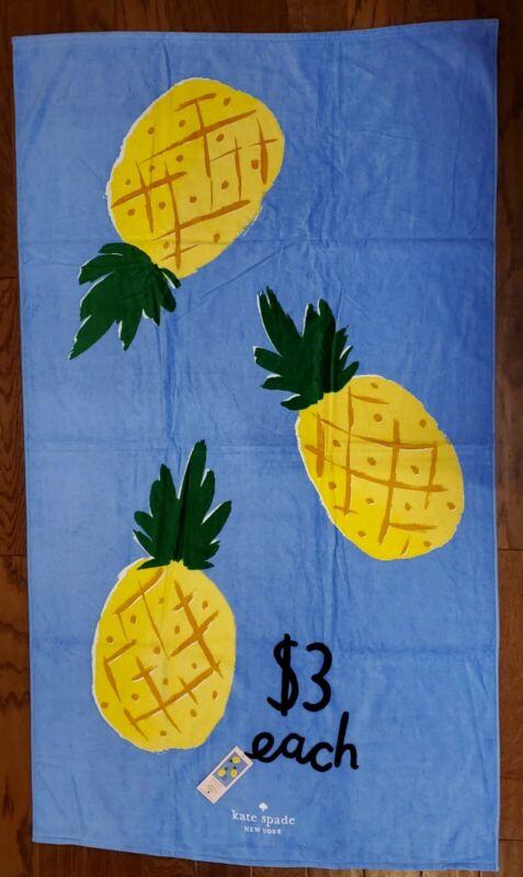 Kate Spade Oversize Pineapple Pool/Spa/Bath Towel 40x70 NEW High Quality!