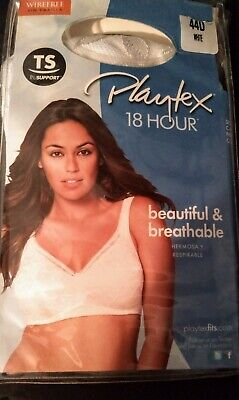 Playtex 18 Hour Smooth N' Stylish Soft Cup Choose Size 44D white Classic Support
