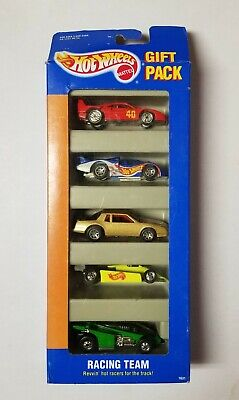 Vintage 1994 Hot Wheels RACING TEAM Collectible Gift Pack 5 Cars Chevy Ferrari