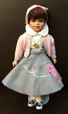 """Poodle Skirt And Saddle Shoes (RARE1950's """"SOCK HOP TEENAGE DOLL WITH POODLE SKIRT AND  Saddle)"""