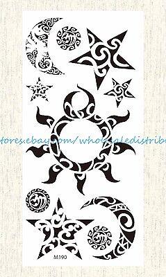 Moon Tribal Tattoos - US SELLER, temporary body tattoos sun moon star tribal temporary tattoo