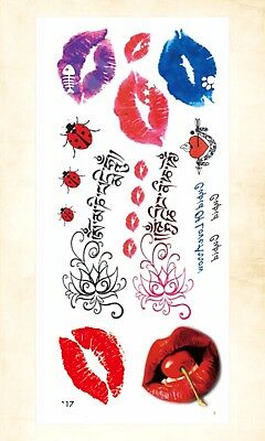 (US Seller- sexy tattoos sexy lips cherry temporary tattoo)