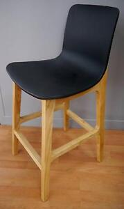 New Sally Stools Scandi Danish Natural Timber Black Seat Counter Melbourne CBD Melbourne City Preview